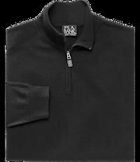 Men's Special Categories, Traveler Collection Merino Wool Quarter Zip Mock-Neck Sweater - Jos A Bank