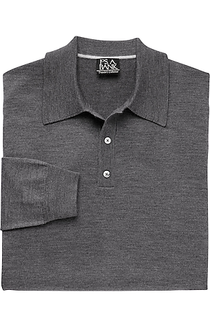 Men's Clearance, Traveler Merino Wool Polo Sweater - Big & Tall CLEARANCE - Jos A Bank