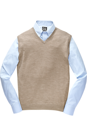 Men's Special Categories, Traveler Collection Washable Merino Wool Sweater Vest - Jos A Bank