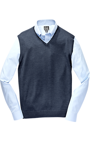 Men's FLYOUT_COLLECTION, Traveler Collection Washable Merino Wool Sweater Vest - Big & Tall - Jos A Bank