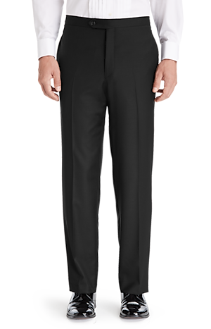 Men's FLYOUT_CATEGORY, 1905 Collection Tailored Fit Flat Front Tuxedo Separate Pants - Big & Tall - Jos A Bank