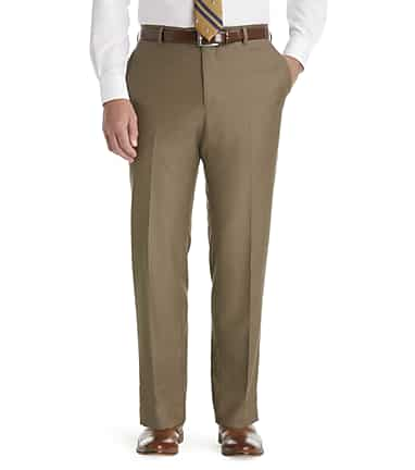 2343eb64e91bf2 Traveler Collection Slim Fit Flat Front Dress Pants CLEARANCE - All ...
