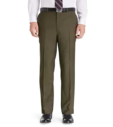 3570ce792a0d16 Traveler Collection Tailored Fit Flat Front Washable Wool Dress Pants  CLEARANCE #2AR3