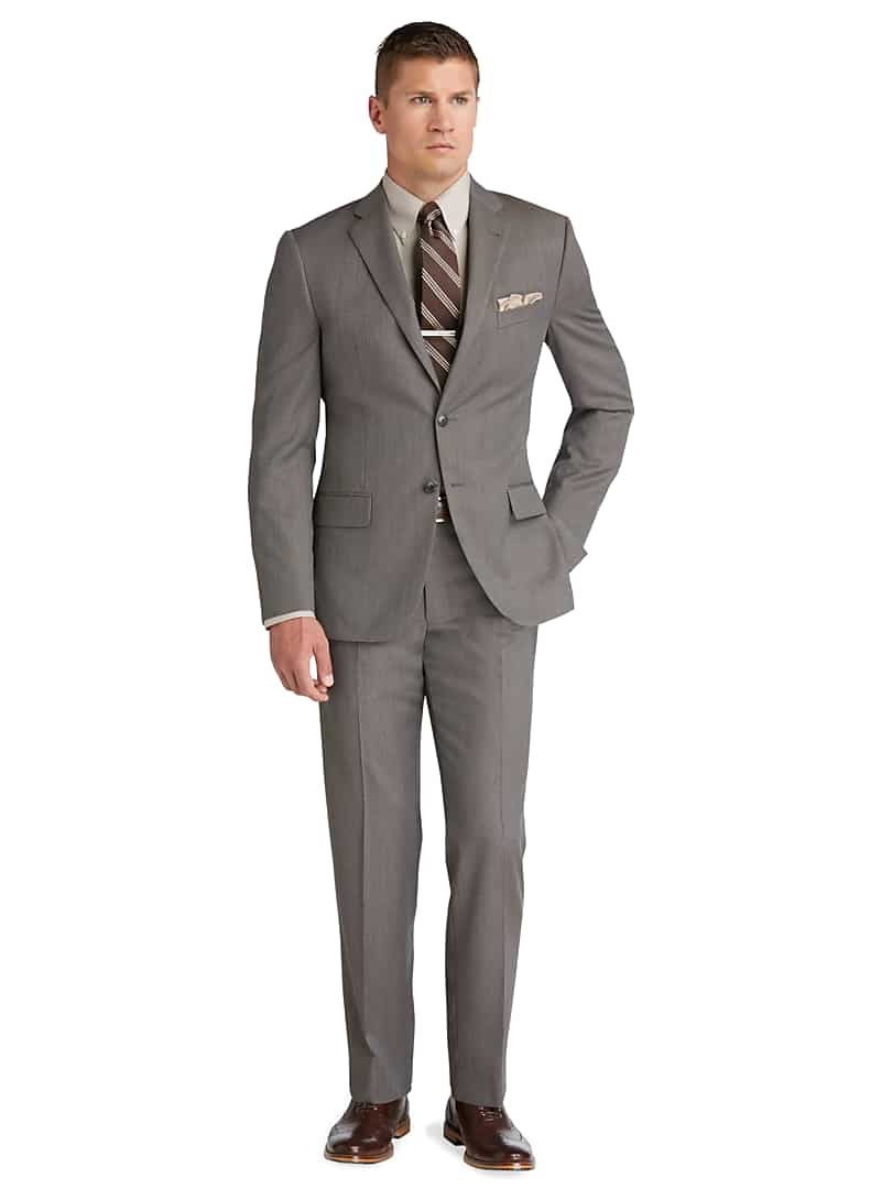 Jos. A. Bank Men's Reserve Collection Slim Fit Heather Suit in Taupe
