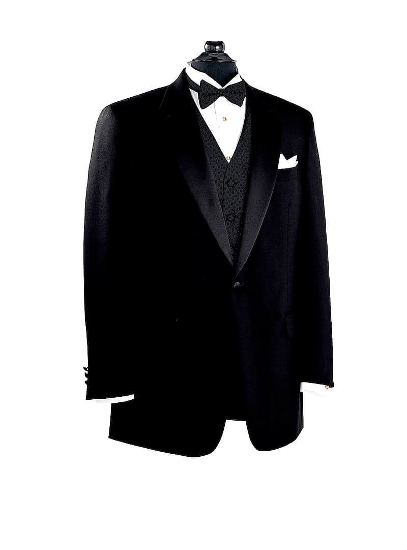 Mens Black Notch Collar Tuxedo Jacket