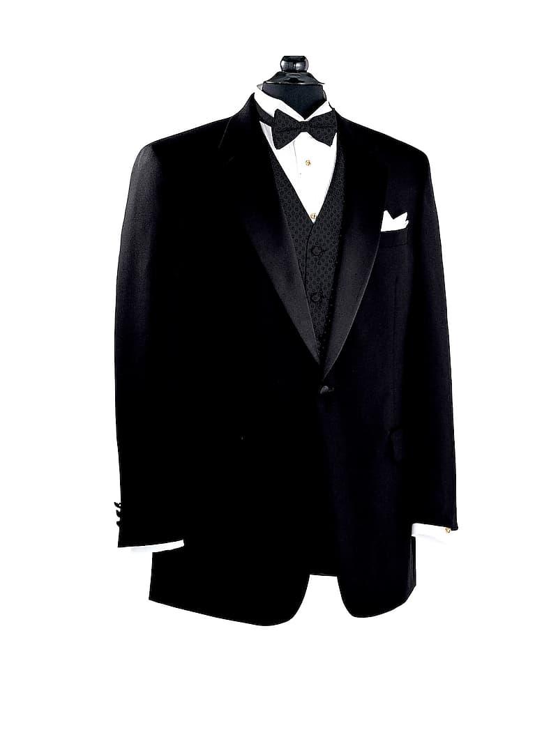 Mens Black Notch Collar Tuxedo Jacket