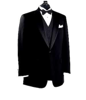 Black Notch Collar Tuxedo Jacket