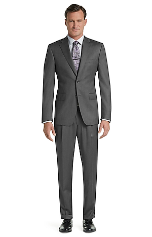 Men's Clearance, Signature Gold Traditional Fit Herringbone Suit CLEARANCE - Jos A Bank