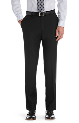 Men's FLYOUT_COLLECTION, Traveler Collection Tailored Fit Flat Front Suit Separate Pants - Big & Tall - Jos A Bank