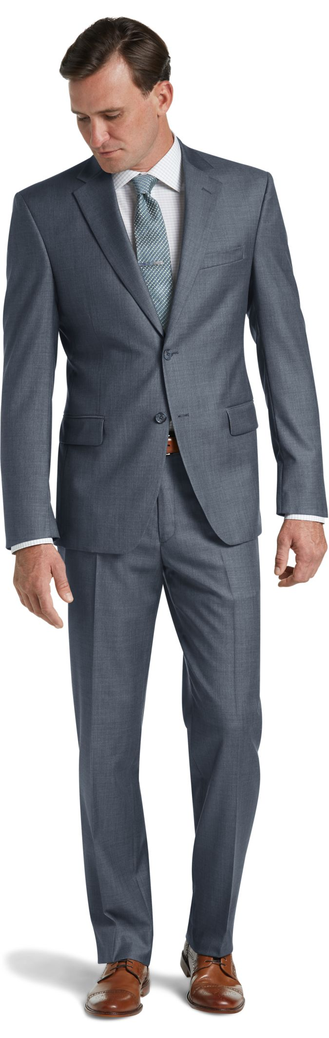 Traveler Collection Traditional Fit Sharkskin Suit
