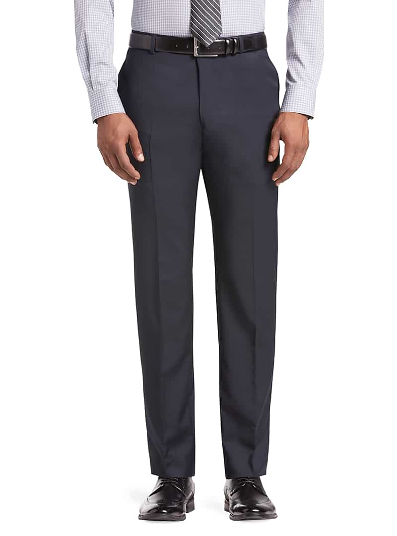 Reserve Collection Tailored Fit Flat Front Suit Separate Pants