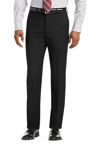1905 Collection Tailored Fit Flat Front Textured Suit Separate Pants