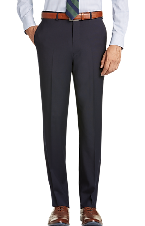 Men's FLYOUT_CATEGORY, 1905 Collection Tailored Fit Flat Front Textured Suit Separate Pants - Big & Tall - Jos A Bank