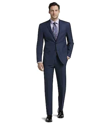Traveler Collection Slim Fit Mini Check Suit Separate Jacket