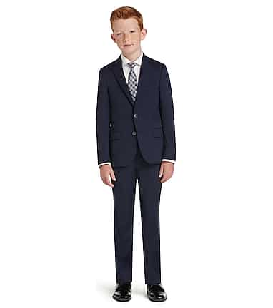 f965c5224 1905 Collection Boys Tailored Fit Suit Separate Jacket - Husky - All ...
