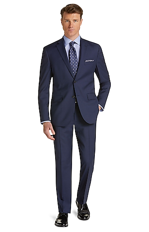 Men's Clearance, Traveler Collection Tailored Fit Box Weave Suit CLEARANCE - Jos A Bank