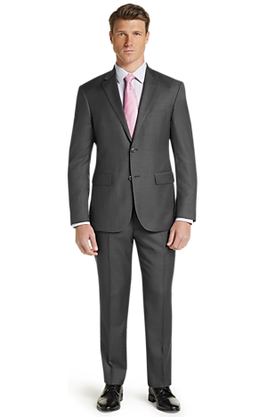 Men's FLYOUT_COLLECTION, Traveler Tailored Fit Sharkskin Suit - Big & Tall - Jos A Bank
