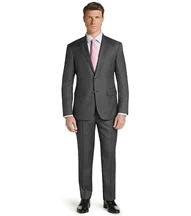 03e87982fc66 Traveler Tailored Fit Sharkskin Suit - Big & Tall - New Arrivals ...