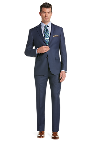 Men's Suits, Traveler Tailored Fit Sharkskin Suit - Jos A Bank