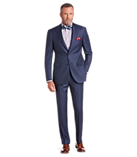Men's Suits, Signature Gold Collection Tailored Fit Herringbone Suit - Jos A Bank