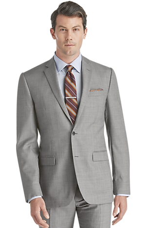 Men's FLYOUT_COLLECTION, Traveler Collection Slim Fit Sharkskin Suit - Big & Tall - Jos A Bank