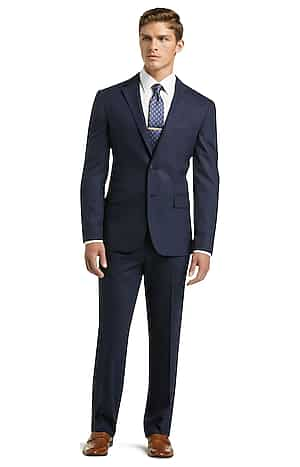 1905 Collection Slim Fit Stripe Suit (Navy)