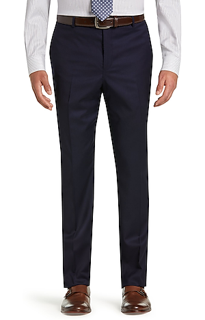 Signature Collection Traditional Fit Suit Separates Plain Front Pants - Big & Tall