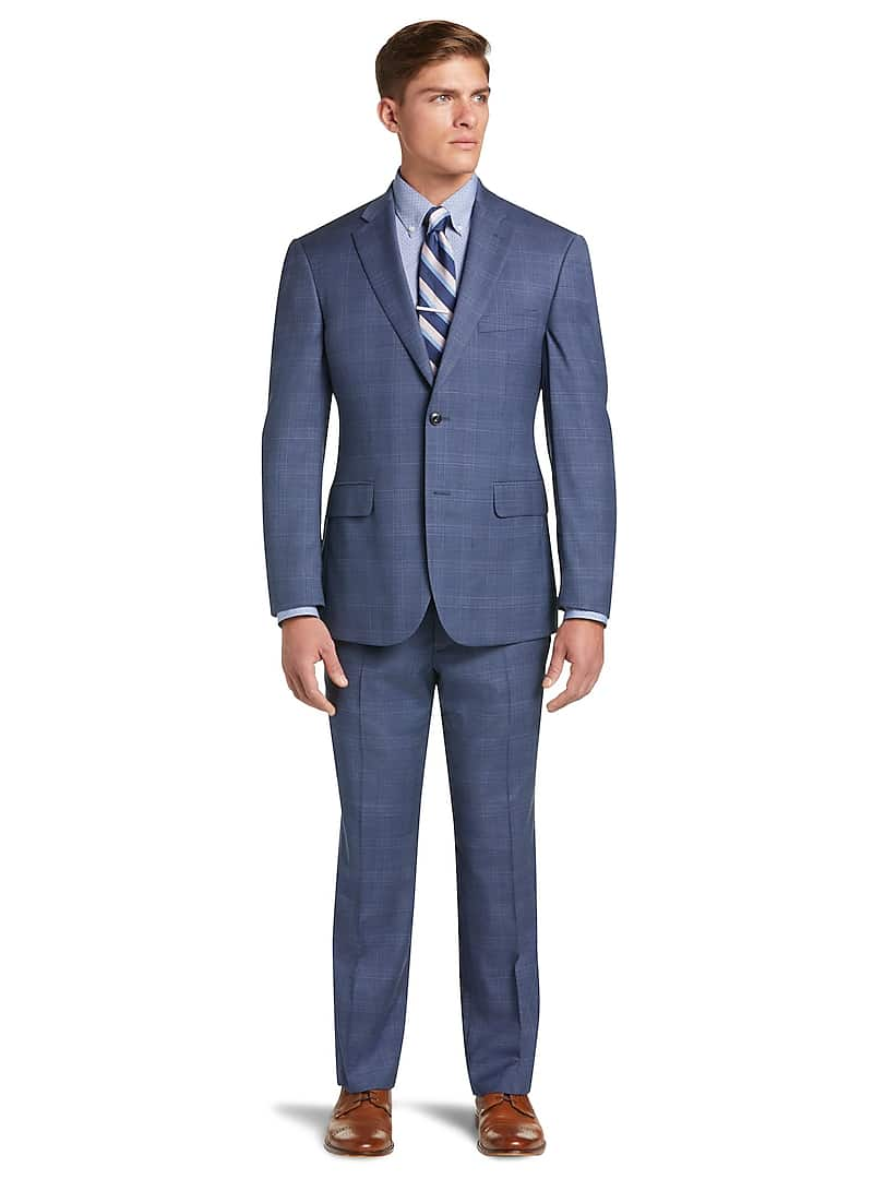 1905 Collection Tailored Fit Plaid Suit