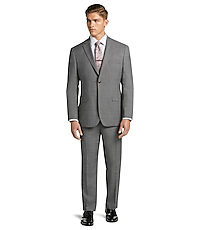 1905 Collection Tailored Fit Glen Plaid Suit with brrr comfort