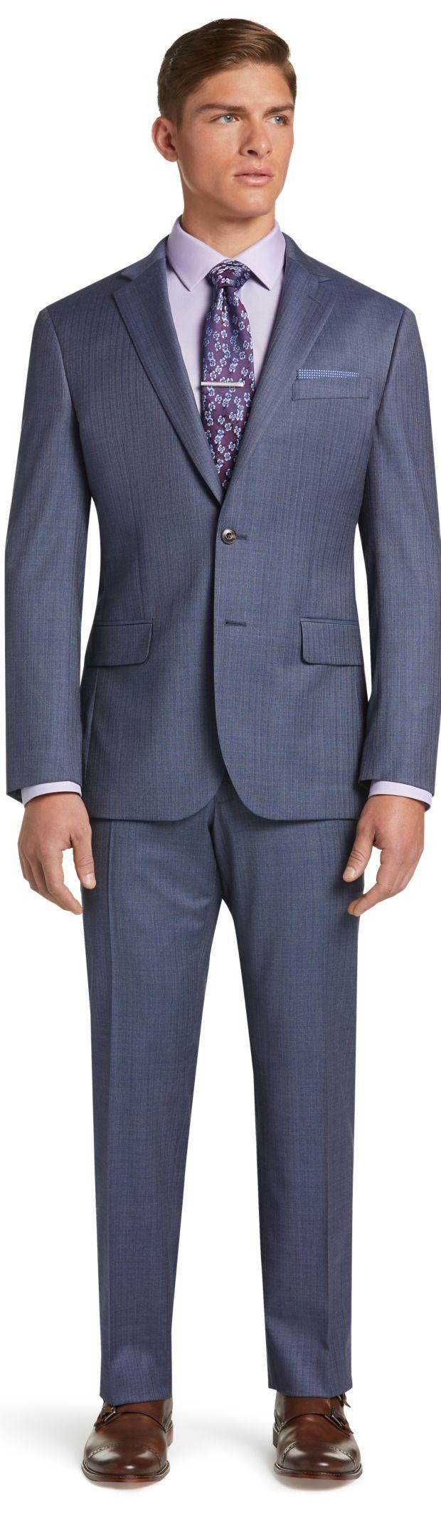 1905 Collection Herringbone Slim Fit Suit with brrr comfort