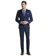 Traveler Collection Tailored Fit Pinstripe Suit