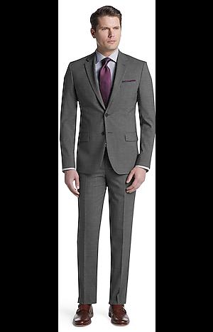 Men's Sale, Travel Tech Slim Fit Mini Check Suit Separate Jacket - Jos A Bank