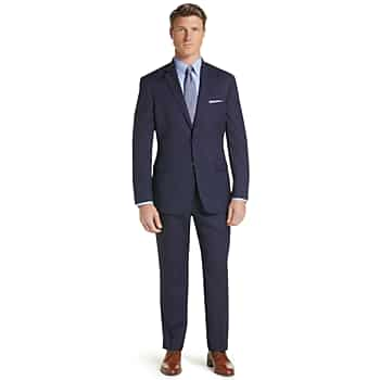 Traveler Collection Tailored Fit Windowpane Suit