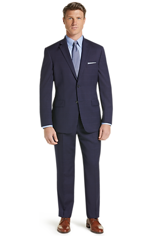 Men's Clearance, Traveler Collection Tailored Fit Windowpane Suit CLEARANCE - Jos A Bank
