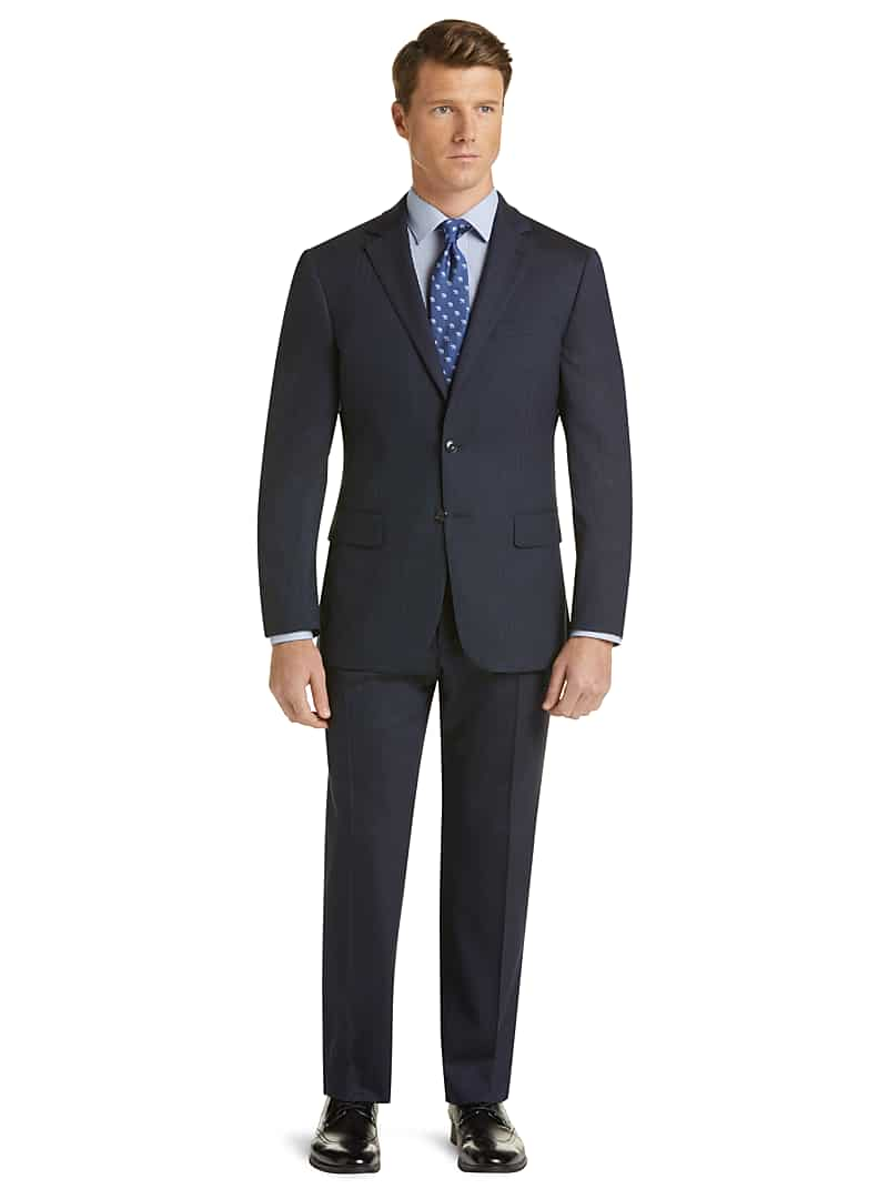 1905 Collection Slim Fit Herringbone Suit with brrr
