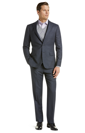 Men's Clearance, Traveler Collection Slim Fit Tic Weave Suit CLEARANCE - Jos A Bank
