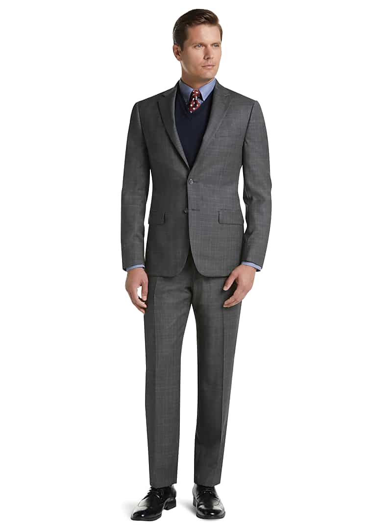 Traveler Collection Slim Fit Glen Plaid Suit