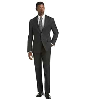 Traveler Collection Tailored Fit Mini Check Suit