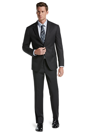 Men's Special Categories, Jos. A. Bank Tailored Fit Herringbone Washable Wool-Blend Suit - Big & Tall - Jos A Bank