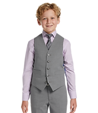 Men's Sale, 1905 Collection Boys Mini Check Suit Separates Vest - Jos A Bank