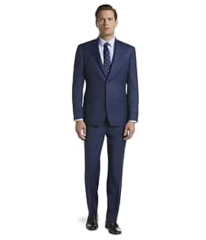 Traveler Collection Tailored Fit Plaid Suit