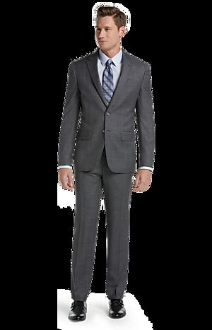Men's Suits, Executive Collection Slim Fit Windowpane Suit - Jos A Bank