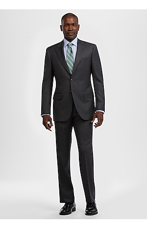 Men's Suits, Reserve Collection Tailored Fit Windowpane Plaid REDA 1865 SustainaWool? Suit - Jos A Bank
