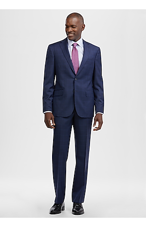 Men's Suits, Reserve Collection Tailored Fit Windowpane Suit - Jos A Bank