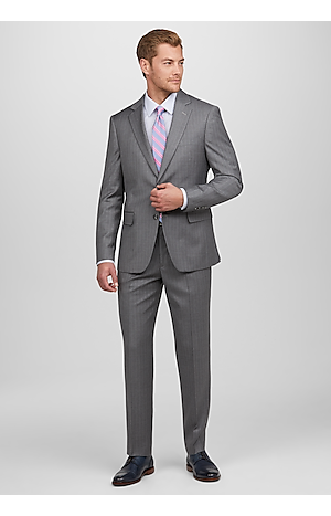Men's Suits, 1905 Collection Slim Fit Chalk Stripe Suit - Jos A Bank