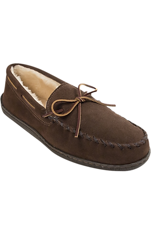 Men's Shoes, Minnetonka Pile Lined Slippers - Jos A Bank