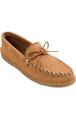 Men's Shoes, Minnetonka Classic Moosehide Slippers - Jos A Bank