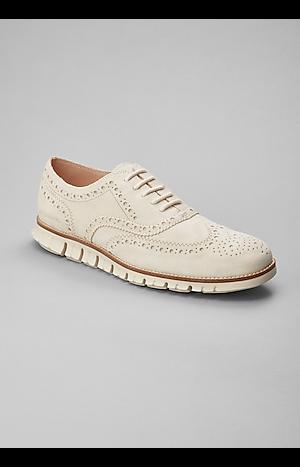 Men's Shoes, Cole Haan Zerogrand Suede Wingtip Oxfords - Jos A Bank