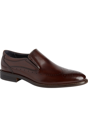 Men's Shoes, Joseph Abboud Bruno Brushed Finish Medallion Toe Loafers - Jos A Bank