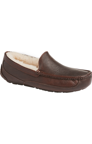 Men's Shoes, UGG Ascot Leather Slippers - Jos A Bank